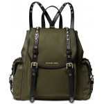 Leila Medium Flap Nylon Backpack