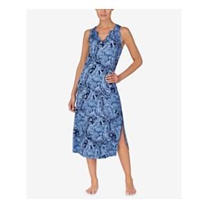 Plus Size V-neckline Printed Nightgown