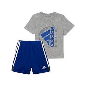 Little Boys 2-Pc. Logo Graphic T-Shirt & Shorts Set