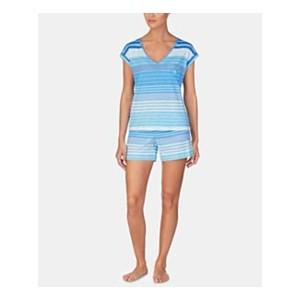Stripe-Print Cotton Short-Sleeve Top and Pajama Shorts Set