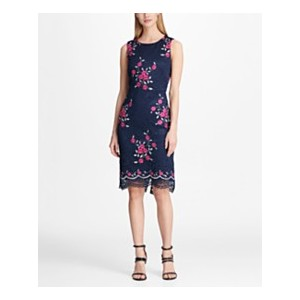 Floral Embroidered Lace Sheath Dress, Created for Macys