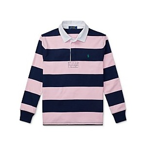 Big Boys Striped Cotton Rugby Shirt