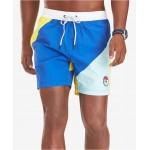 Mens Clark Quick-Dry Colorblocked 6-1/2 Swim Trunks