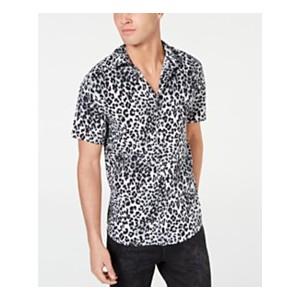 Mens Rogan Techno Leopard-Print Shirt