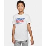 Big Boys Red, White & Blue Logo Cotton T-Shirt