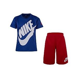 Little Boys 2-Pc. Futura Dri-FIT Logo T-Shirt & Mesh Running Shorts Set