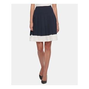 Pleated Colorblocked Skirt