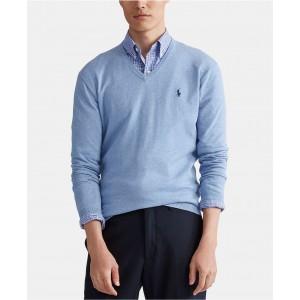 Mens Cotton V-Neck Sweater