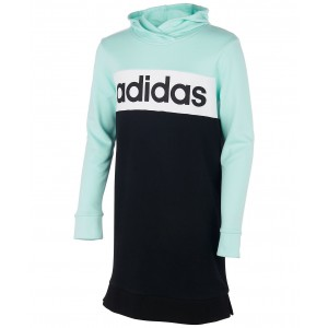 Big Girls Colorblocked Hoodie Dress