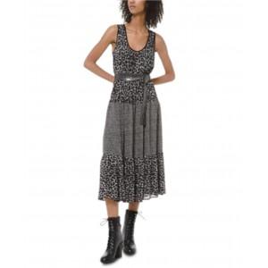 Mixed Cheetah-Print Dress