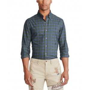 Mens Classic Fit Plaid Cotton Shirt
