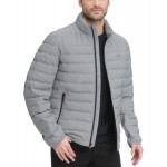 Mens Quilted Pearlized Nylon Classic Packable Jacket, Created for Macys