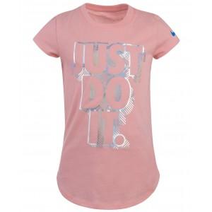 Little Girls Cotton Printed Iridescent T-Shirt