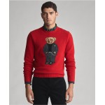 Mens Suit Bear Wool Blend Sweater
