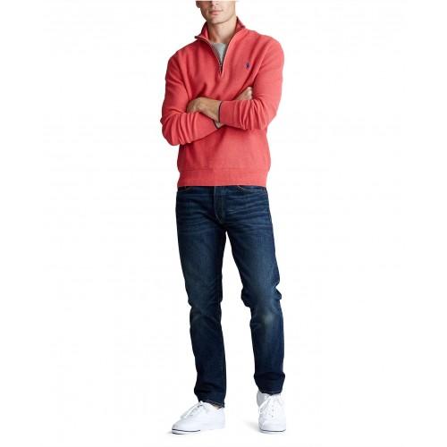폴로랄프로렌 Mens Textured Quarter-Zip Sweater