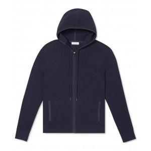 Mens Regular-Fit Textured Full-Zip Hoodie