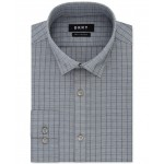 Mens Slim-Fit Performance Active Stretch Check Dress Shirt