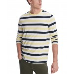 Mens Leith Striped Long Sleeve T-Shirt