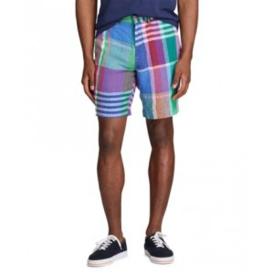 Mens Classic-Fit Madras Shorts
