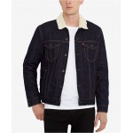 Mens Sherpa Denim Trucker Jacket