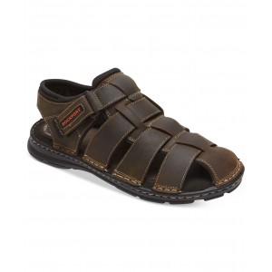Mens Darwyn Closed-Toe Fisherman Sandals