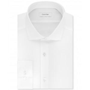 Mens STEEL Big & Tall Slim-Fit Non-Iron Performance Stretch Unsolid Solid Dress Shirt