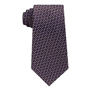 Mens Pindot Ground Diamond Silk Tie