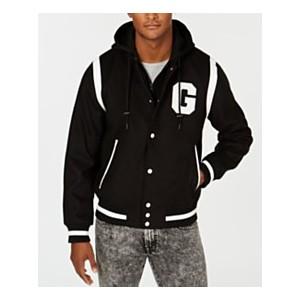 Mens Hooded Varsity Jacket