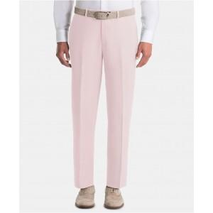 Mens UltraFlex Classic-Fit Pink Linen Pants