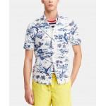 Mens Big & Tall Classic Fit Printed Cotton Shirt