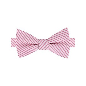 Mens Preppy Seersucker Stripe To-Tie Bow Tie