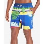 Mens McCallister TH Flex Stretch Tropical-Print 6-1/2 Swim Trunks