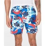 Mens 7 Marcus Regular-Fit Stretch Leaf-Print Shorts