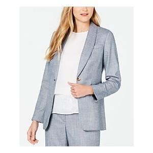 Petite Denim One-Button Jacket