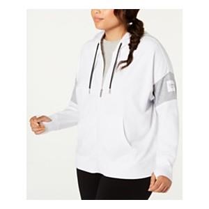 Plus Size Colorblocked Zip Hoodie