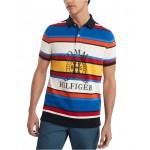 Mens Slim Fit Spruce Stripe Polo Shirt, Created For Macys