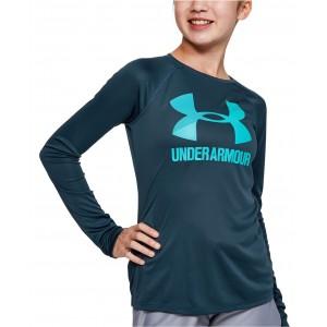 Big Girls UA Tech Logo-Print T-Shirt