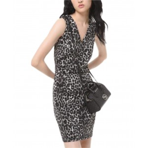 Leopard-Print Scuba Dress, Regular & Petite Sizes