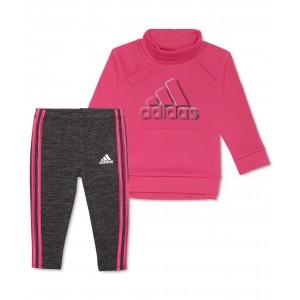 Baby Girls 2-Pc. Fleece Sweatshirt & Space-Dyed Leggings Set