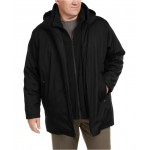 Mens Big & Tall Ripstop Jacket with Fleece Bib