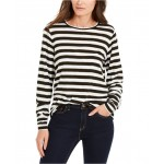 Petite Striped Long-Sleeve Top