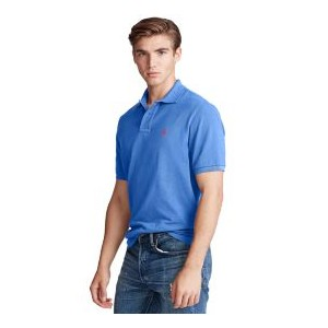 Mens Custom Slim Fit Mesh Polo