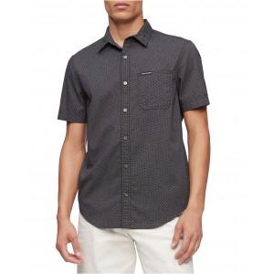 Calvin Klein Mens Short Sleeve Pocket Twill Shirt