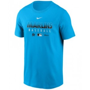 Miami Marlins Mens Early Work Dri-Fit T-Shirt