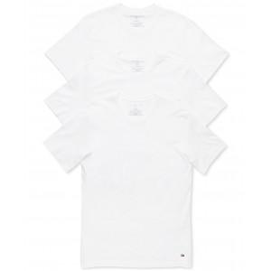 Mens 3 Pack Slim Fit Cotton Crew Undershirts
