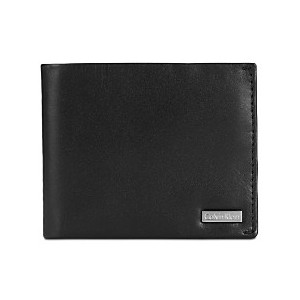 Mens Smooth Shine Leather Bifold ID Wallet