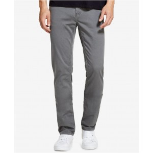 Mens Slim-Straight Fit Stretch Twill Pants, Created for Macys