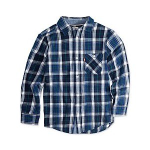 Big Boys Plaid Woven Shirt