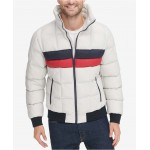 Mens Colorblocked Quilted Puffer Jacket