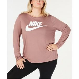 Plus Size Sportswear Logo Top